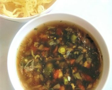 ManChow Soup step by step