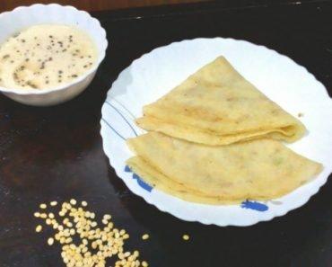 Moong Dal Dosa Recipe