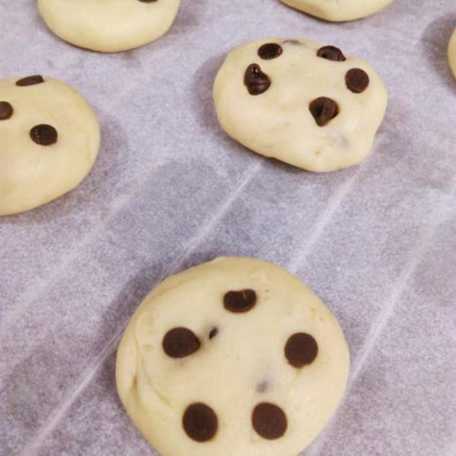 Choco Chip Cookies step by step process